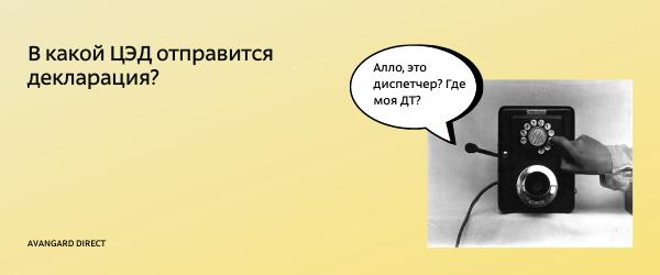 Диспетчеризация деклараций на товары — Авангард Директ