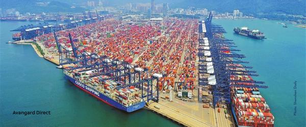 Порт Яньтянь частично закрыт — Авангард Директ
