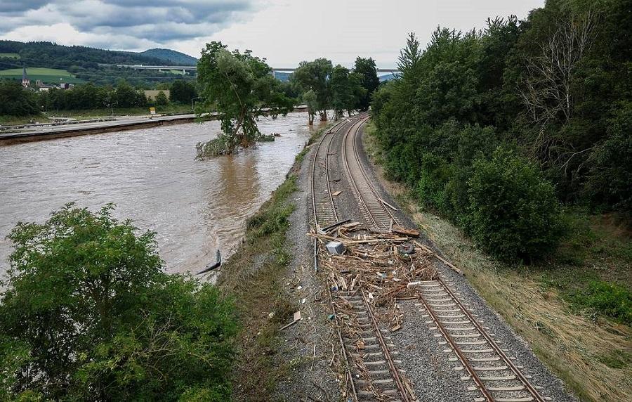 Железнодорожное сообщение нарушено в Европе из-за сильных паводков 2021 — Авангард Директ